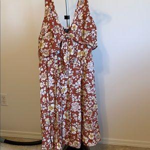 Brown floral Torrid dress
